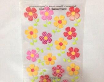 Sticko FLOWERS Glittered