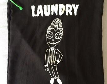 Mistress of all evil - laundry - black - white - rockabilly - psychobilly - laundry - doll - doll - creepy - bag - Reverend of all evil