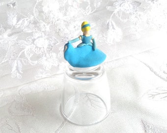 Cinderella Disney Princess Handmade Crazy Clay Collectable Figurine 2.5cm