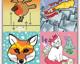 Christmas Card Multipack - Choose Five from nine designs