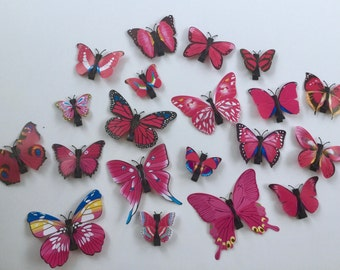 Pink Butterfly Hair Clip. Butterfly Hair Clip.