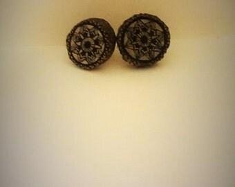 Wooden Mandala Earrings
