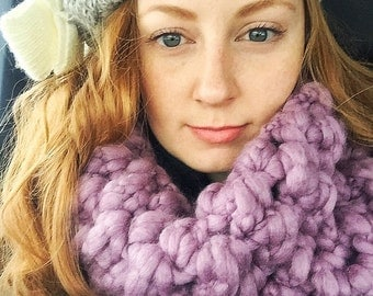 Crocheted Bubble Cowl