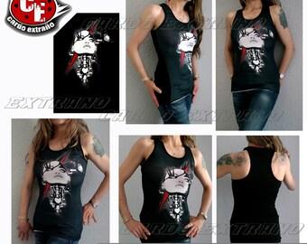 Tank top, Black, Punk Rock clothig, T shirt, Women's Clothing