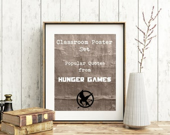 Classroom Digital Print Set: Hunger Games Quotes