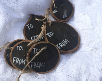 Set of 6 Rustic Present Tags