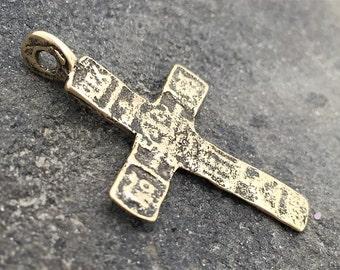Antique Cross, Rosary, Artisan Cross, Bronze Cross, Large Cross, Cross, Crucifix, Patina Cross, Rustic Cross, Cross Pendant