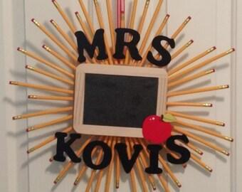 Teacher Appreciation Pencil Wreath