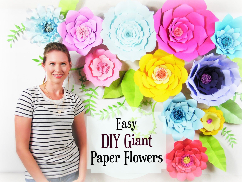 Giant Paper Flower Tutorial Large Paper Flowers Wedding Backdrop