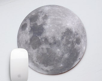 Mouse Pad Moon Marble Mousepad Mouse Mat White Mousemat Office Desk Accessories Round Mouse Pad Round Mousepad Mouse Pad