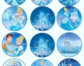 Cinderella Edible Cupcake/Cookie Toppers for Birthday or Other Special Occasion!