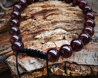 Bracelet Tibeatin garnet red