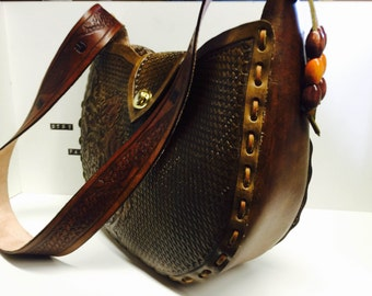 Leather tooled purse