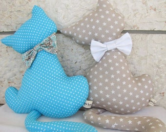 Handmade cat toy, pillow,baby gift,handmade,kids room, home decor, can be personalized, girl,boy,DIY