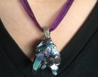 Titanium Crystal Pendant - Choker