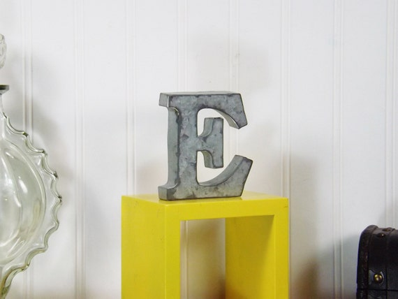items similar to metal letter 4 inch letter shelf letter. Black Bedroom Furniture Sets. Home Design Ideas