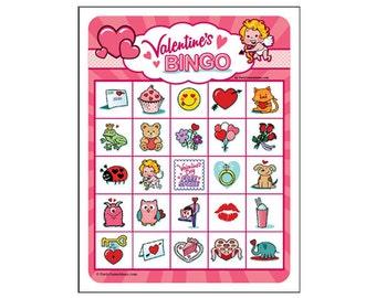 Valentine Day Bingo 5x5 40 Card Pack