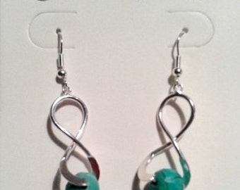 Earrings infinity with Turquoise