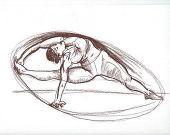 Visvamitrasana yoga pose print