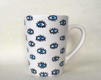 Evil eye eyes mug
