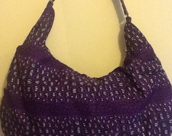 Purple Animal Print Bag