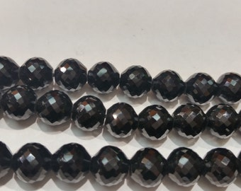 8mm Black Spinel Round Faceted ,Natural spinel and Good quality gemstone