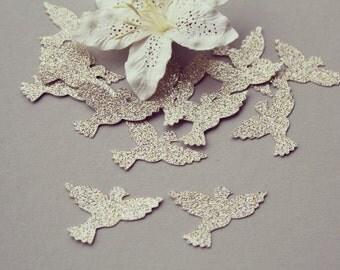 Glitter Dove Paper Punch/ Dove Paper Die Cut/ GLITTER Doves/ Doves for scrapbooking/ Party décor/ Baby Shower Confetti/Wedding décor/