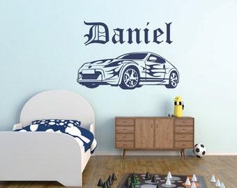 Lovely Car Wall Decal, Boys Room Car Wall Decal, Car Vinyl Wall Decal, Car Part 13