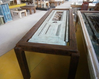 Handmade Dining Table made from old Neoclassical Door D004