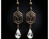 Art Deco earrings Teardrop earrings Victorian earrings Hypoallergenic earrings NIOBIUM earrings Vintage style jewelry Edwardian earrings