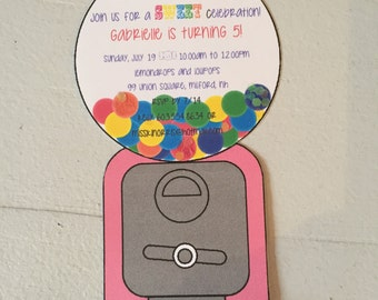 Gumball Machine Invitations