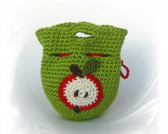 crochet, apple cozy cover, sweater, Apfeltasche, Geschenk, Dekoration,