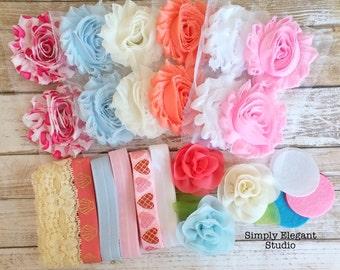 Headband Supply Kit, Baby Shower Kit, Infant Headband Kit, Kit #162