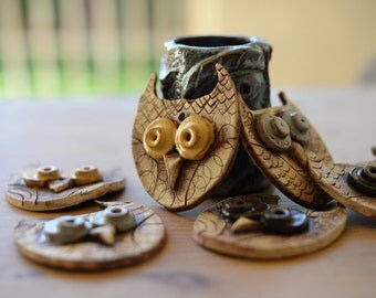 Whimsical Owl Ornaments