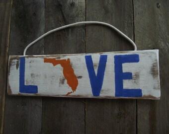 Florida Gators wood  sign | Gators rustic pallet sign | UF sign | Gators dorm  sign | Gators football sign | UF sports sign