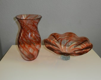 Handmade glass bowl/vase