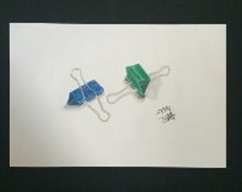 Drawing - Blue and Green Clips