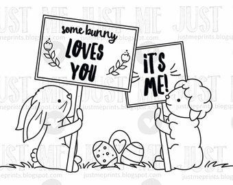 easter signs digital stamp set