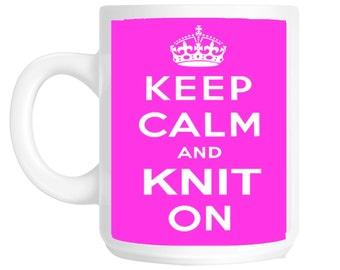 Keep Calm And Knit On Knitting Gift Mug shan189