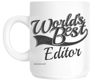 Editor World's Best Novelty Gift Mug shan1044