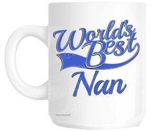Nan World's Best Blue Mother's Day Novelty Gift Mug shan812