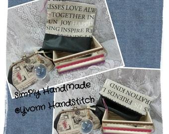 Zipper Foldover Clutch bag/Ipad Case