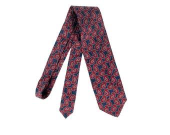 Vintage 80s Tie - Giorgio Armani - Vintage Armani Tie - 80s Giorgio Armani - Red Blue - Abstract Paisley - Silk Paisley Tie - Italy  Necktie