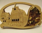 Fridge Magnet Blackheads House Riga Amber Wood Souvenir For Collection Gift