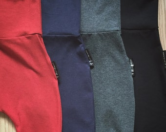 Evolutive pants bamboo several color choices, adjustable for babies and Kids pants made by a MOM