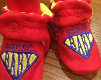 Super Baby super hero booties