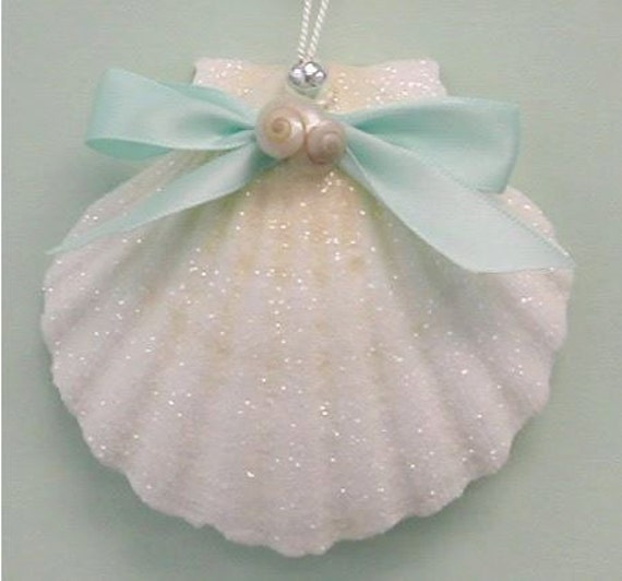 Nautical shell ornament for Miniature tree decorated with sea shells