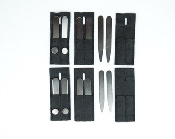 Five (5) Collar Stays Pairs Stainless Steel plus Holding Magnets