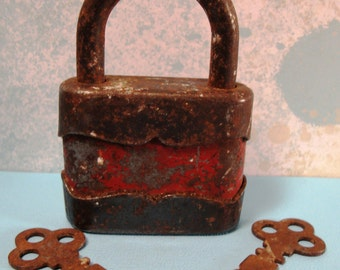 Vintage Lock with Key