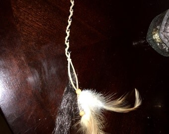 Feather and Beaded Hair Extension